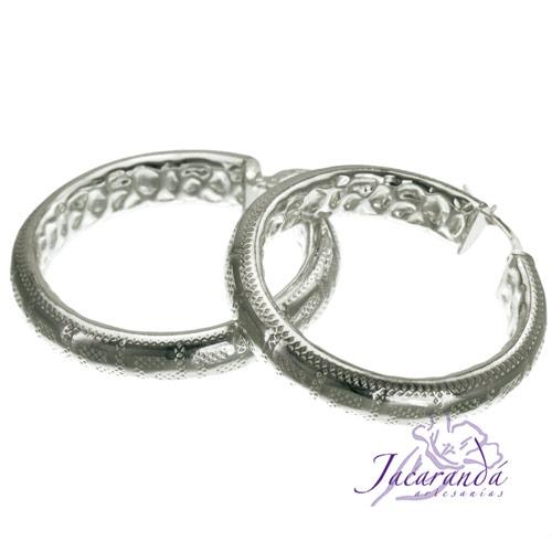 Aros de plata 925 diámetro 35 mm