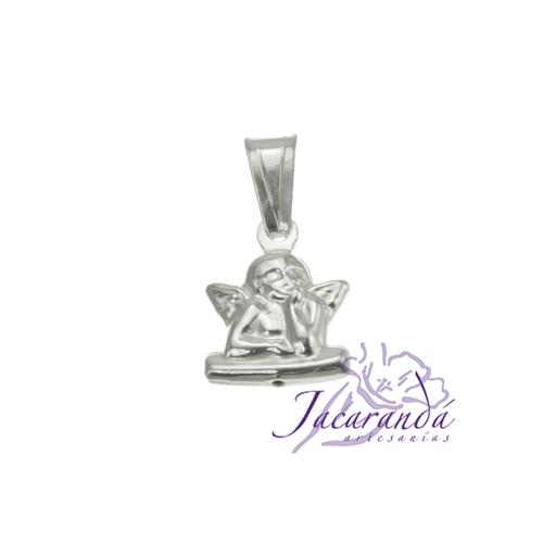 Colgante de plata 925 diseño ángel de Rafael chico doble