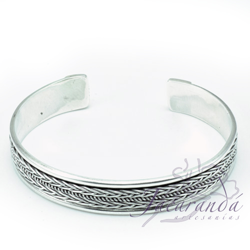 Brazaletes-de-Plata-labrado-Artesanalmente-diseños-Unisex 4