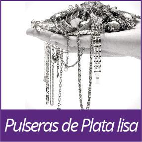 Pulseras de Plata lisa
