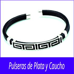 Pulseras de Plata y Caucho
