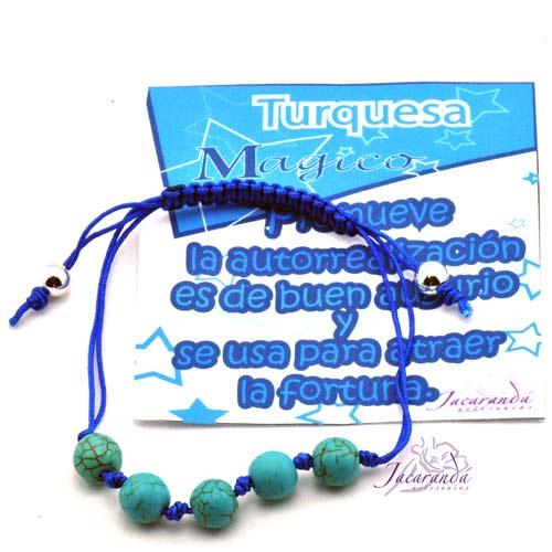 1126 2 Pulsera de cordon de seda Turquesa fortuna 2