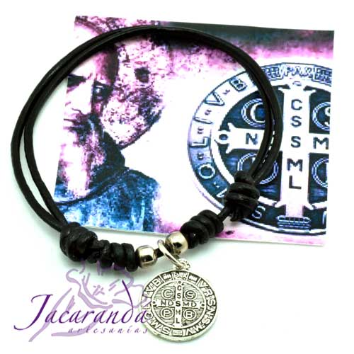 1159 Pulsera medalla San Benito 4