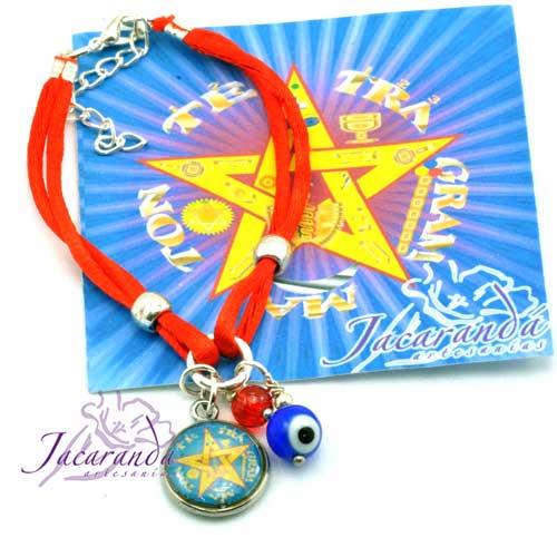 1184 1Pulsera hilo doble de seda rojo Tetragrammaton rojo con ojito Protector y Rojo magico 2