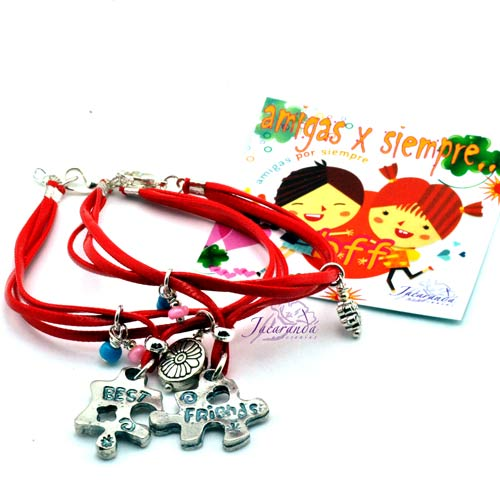 Pulsera con medallas Puzzle best friend