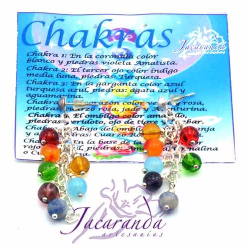 Pendientes 7 Chakras Piedras naturales diseño racimo
