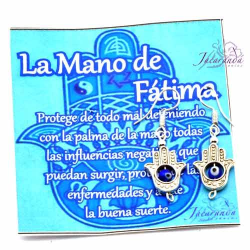 Pendientes Mano de Fatima con Ojito Protector