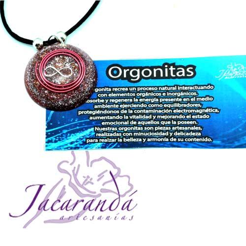 1401 1 Colgante orgonita infinito color fucsia 5