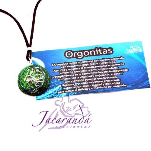 Colgante-orgonita-infinito-color-verde