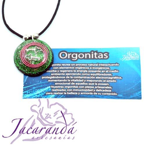 1405 colgante orgonita llaves mágicas color verde 7