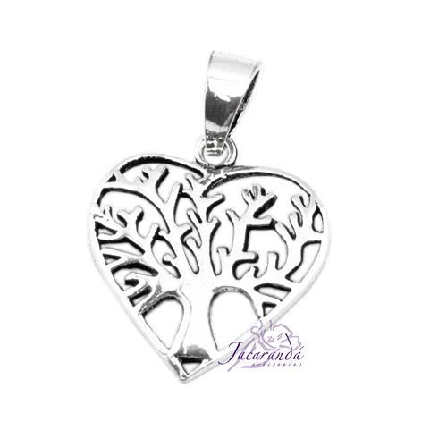 Colgante de Plata Corazón Árbol de la vida