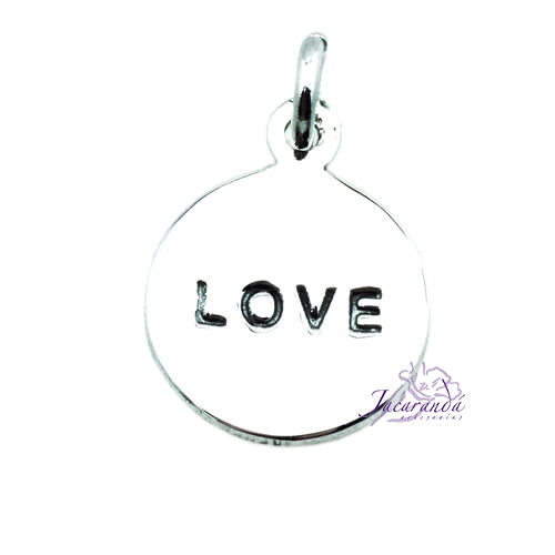 Colgante de Plata Love 12 mm