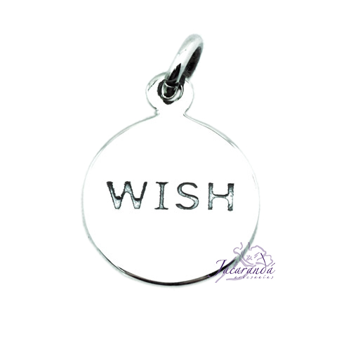 """Colgante de Plata Wish Medalla """"Deseo"""""""