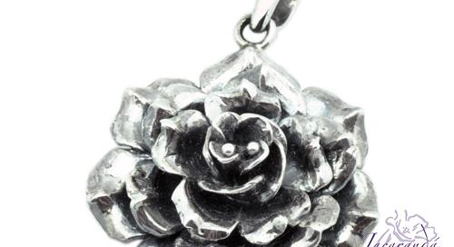 Colgante de Plata Rosa del Amor