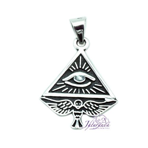 Colgante de Plata Amuleto del Ojo de Horus 3