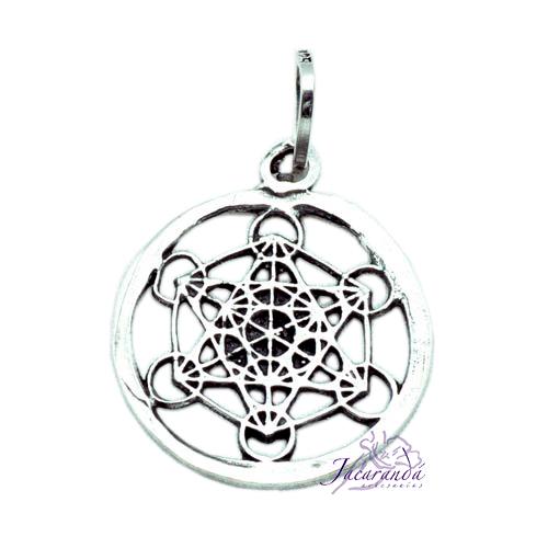 Colgante de Plata Amuleto de los siete elementos