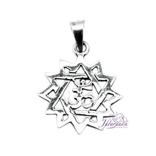 Colgante de Plata Estrella Amuletos Om