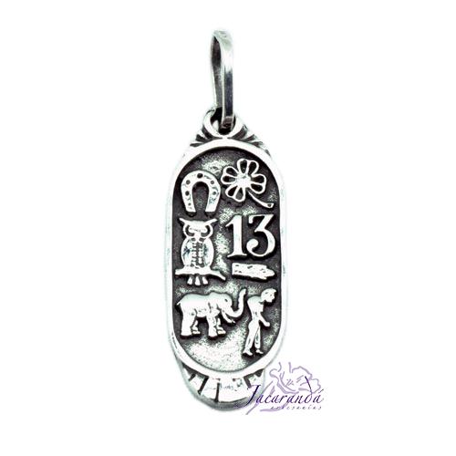 Colgante de Plata Amuleto de la Fortuna