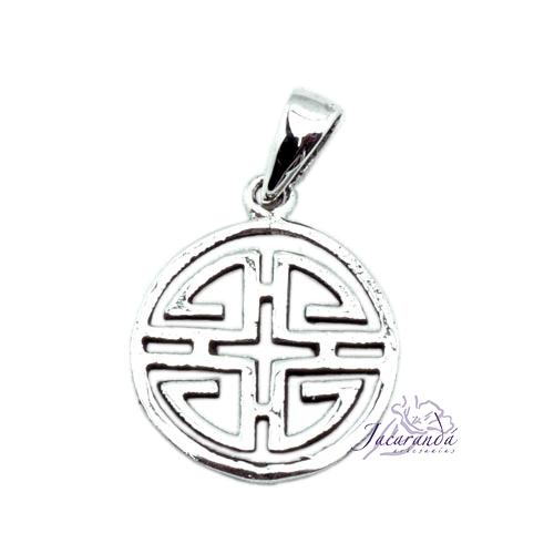 Colgante de Plata Amuleto mente y equilibrio