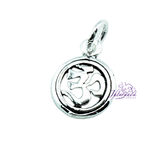 Colgante de Plata Amuleto del OM Pequeño 7 mm