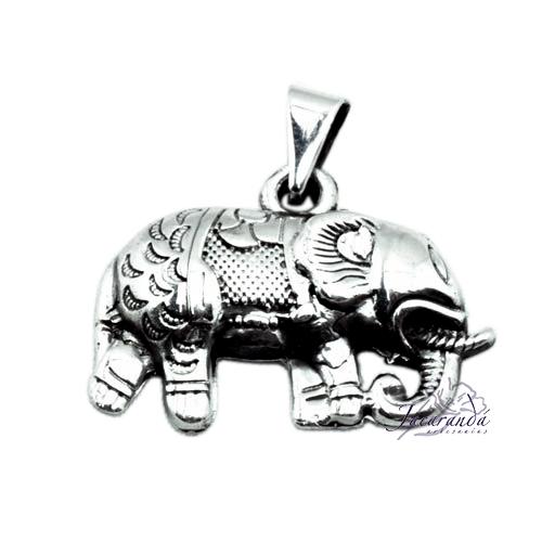 Colgante de Plata Elefante de la Fortuna Tamaño 28 x 20 mm