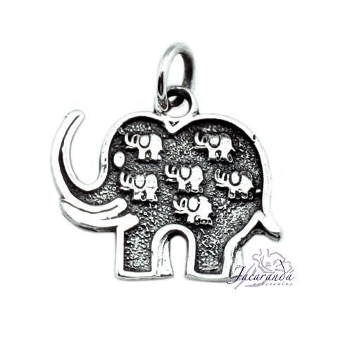 Colgante de Plata Elefante de la fortuna
