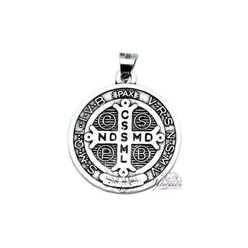Colgante de Plata Medalla San Benito
