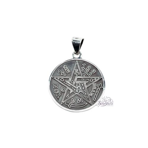 Colgante de Plata Tetragramaton color Óxido