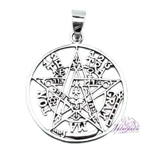 Colgante de Plata 925 Tetragramaton calado