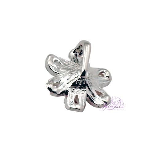 6170 Colgante de plata 925 Flor trasera
