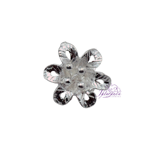 Colgante de plata flor Tamaño 15 mm
