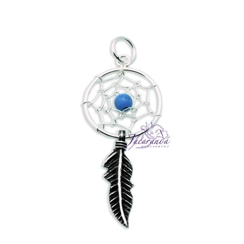 Colgante de Plata 925 Amuleto de Atrapasueño Turquesa