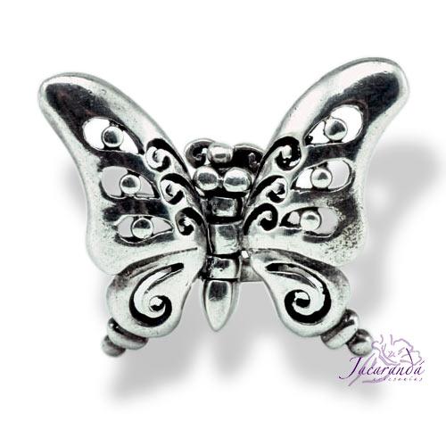 Anillo de Plata Mariposa con Alas articuladas 21 mm