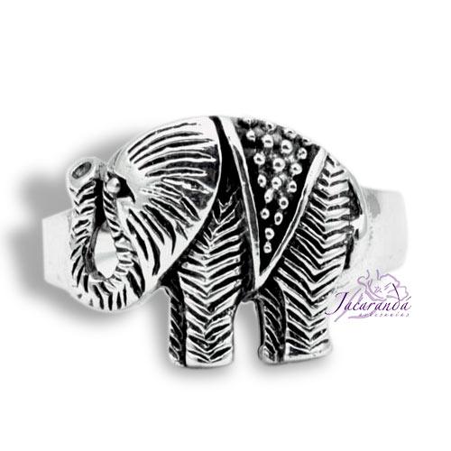 Anillo de Plata 925 Elefante de la Fortuna