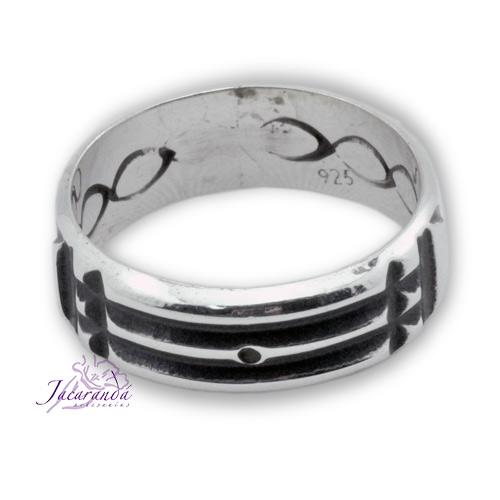 Anillo de plata 925 diseño Atlante infinito