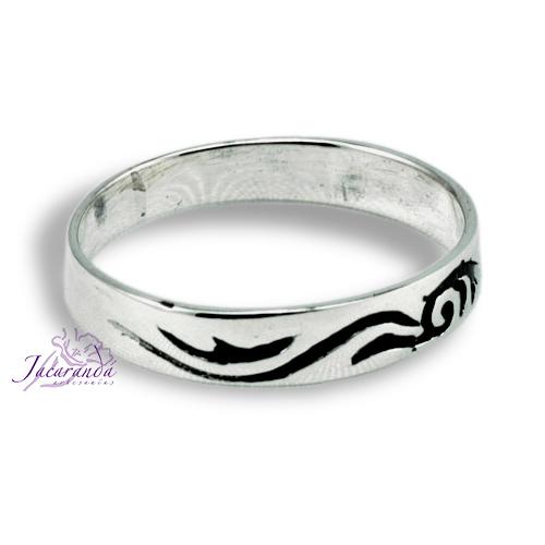 Anillo de Plata 925 cinta diseño Maori