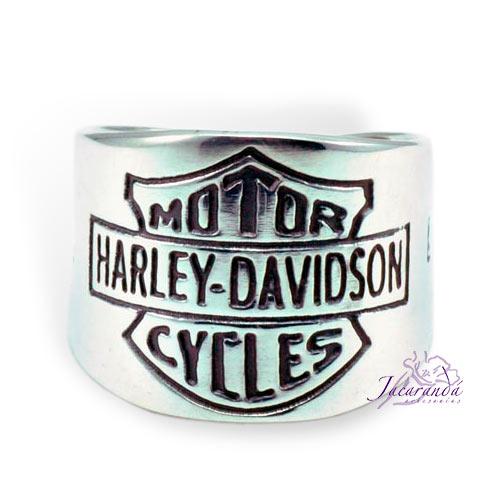 Anillo de Plata 925 con motivo Harley-Davidson 25 mm