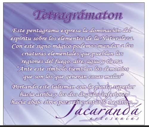 Tarjeta significado Tetragrammatron