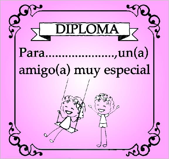 Diploma mejor amiga