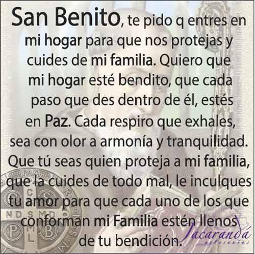 Tarjeta significado San Benito