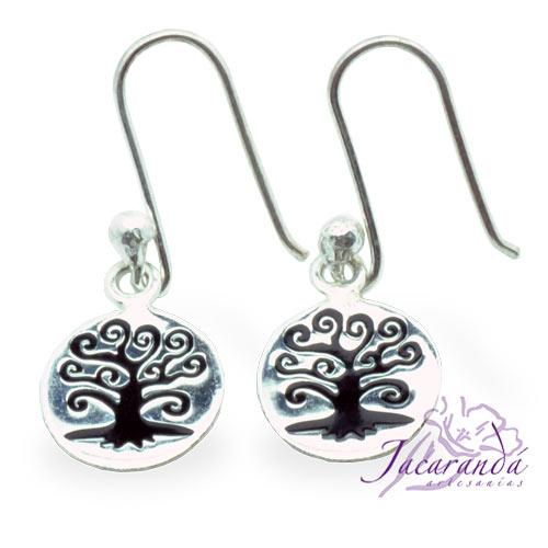 Pendientes de plata 925 diseño Árbol de la vida