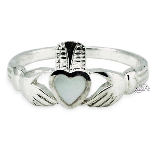 Anillo de plata 925 corazón manos Con Nacar