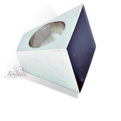 Anillo de Plata 925 Onix rectángulo pirámide