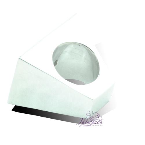 7543 Anillo de Plata 925 Onix rectángulo pirámide fondo