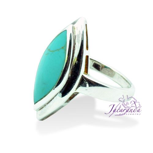 Anillo de plata 925 diseño Turquesa