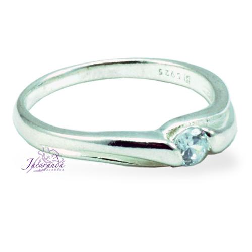 Anillo de plata 925 con circones cristal 21 mm