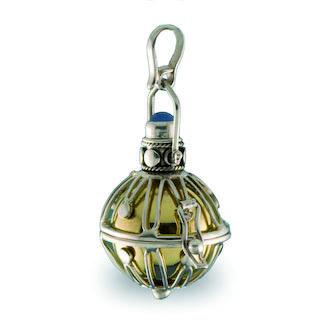 Llamador de ángeles labrado en plata de 23 mm