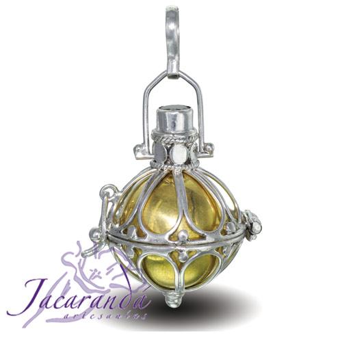 Llamador de ángeles de plata 925 diseño cesta en 21 mm