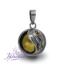 Llamador de ángeles de plata calada diseño Yin Yang en 18 mm.