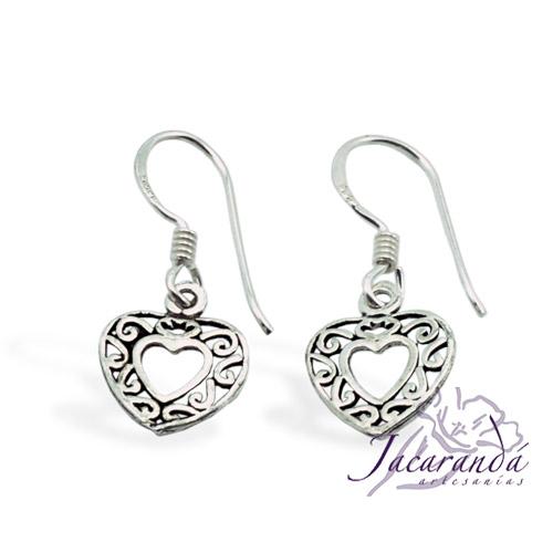 Pendiente de Plata 925 diseño Corazón